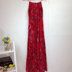Free People Dresses - Free People Garden Party Red Floral Maxi Dress M